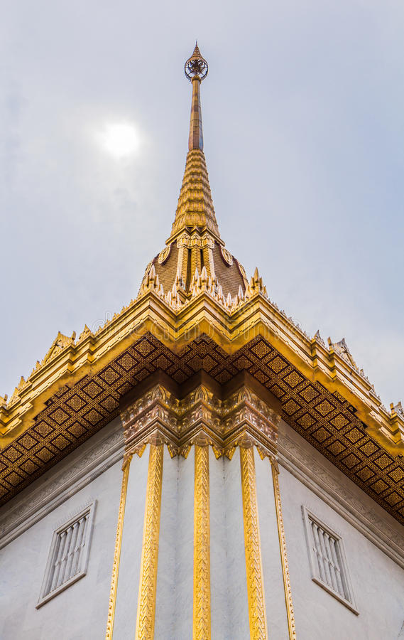 Roof laythai temple with sky