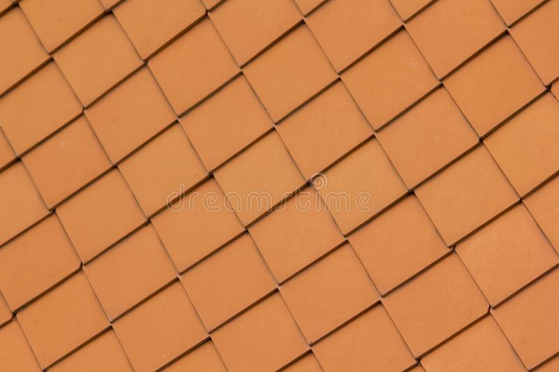 The roof is made of stacked clay tiles. Used to decorate Thai temples royalty free stock photography