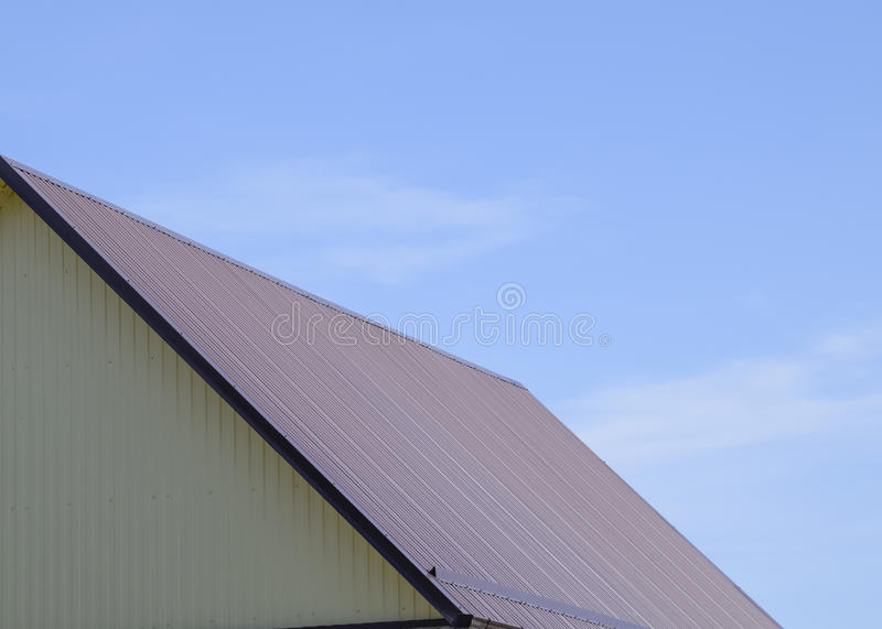 Roof metal sheets stock photo image of burgundy drain for Modern roofing materials