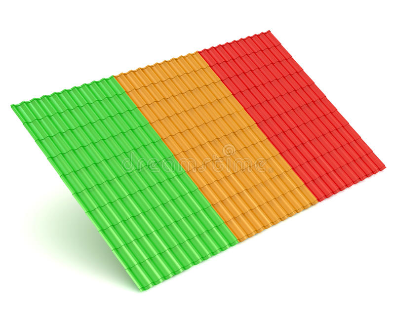 Download Roof metal tile stock illustration. Illustration of green - 28439322