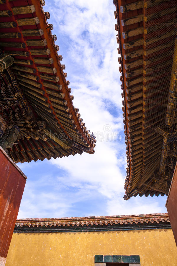 The Roof of Monastery in Mongolia. Buddhism in Mongolia derives much of its recent characteristics from Tibetan Buddhism of the Gelug and Kagyu lineages stock photos