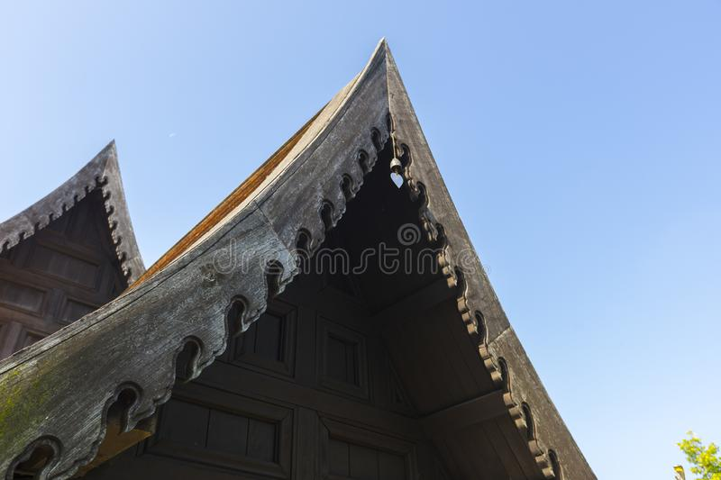 A Roof of Northern Thai Traditional House royalty free stock photo
