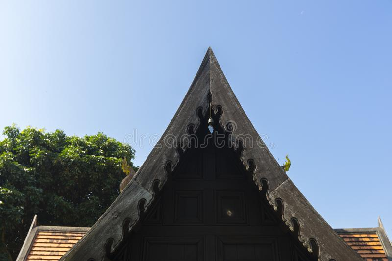 A Roof of Northern Thai Traditional House stock photos