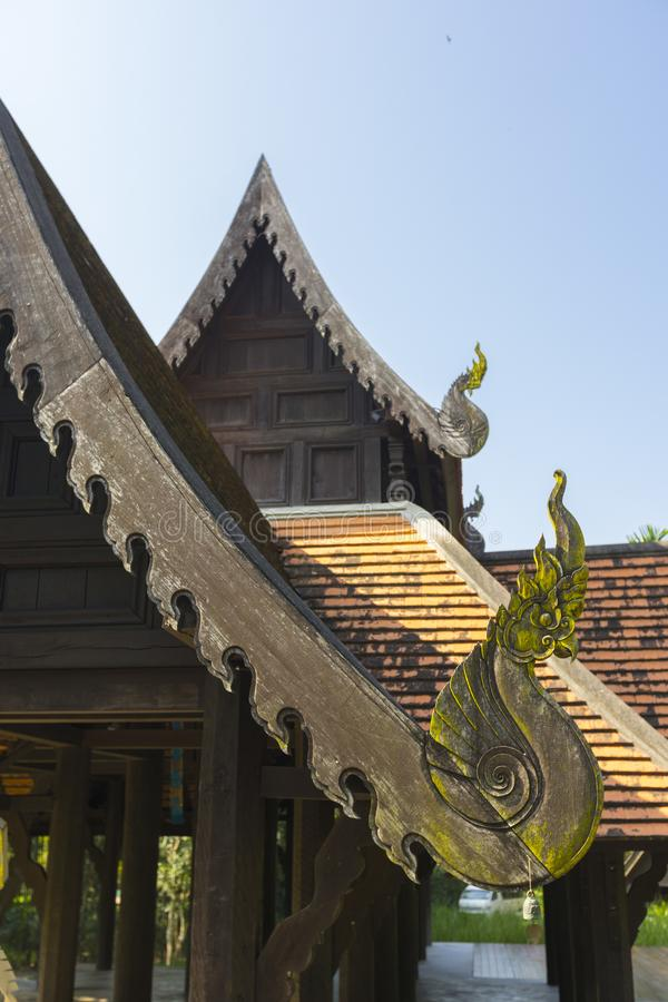 A Roof of Northern Thai Traditional House royalty free stock photos