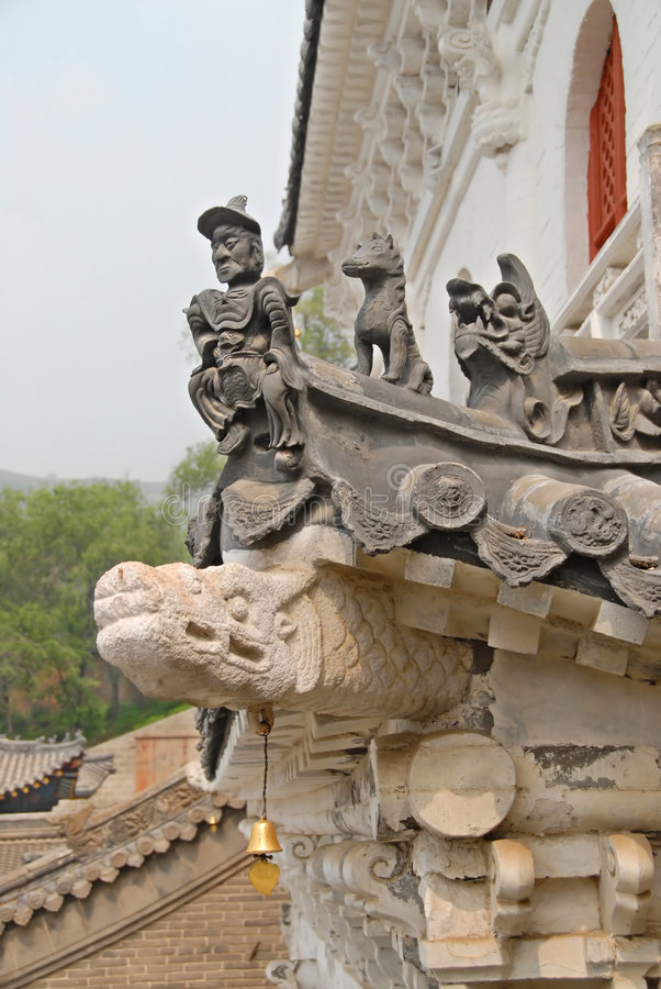 The roof of old building in china stock photography