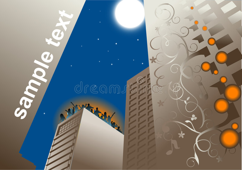 Roof Party Background Vector Royalty Free Stock Photo
