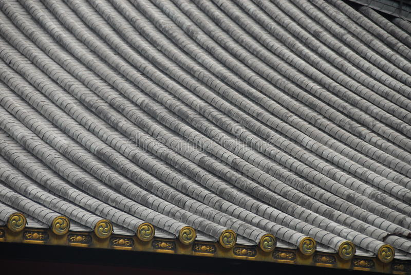Roof pattern Japan. Pattern of roof tiles on a Japanese temple royalty free stock photos