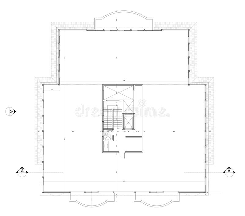 Roof Plan Stock Vector Illustration Of Axis Drawing 26223423