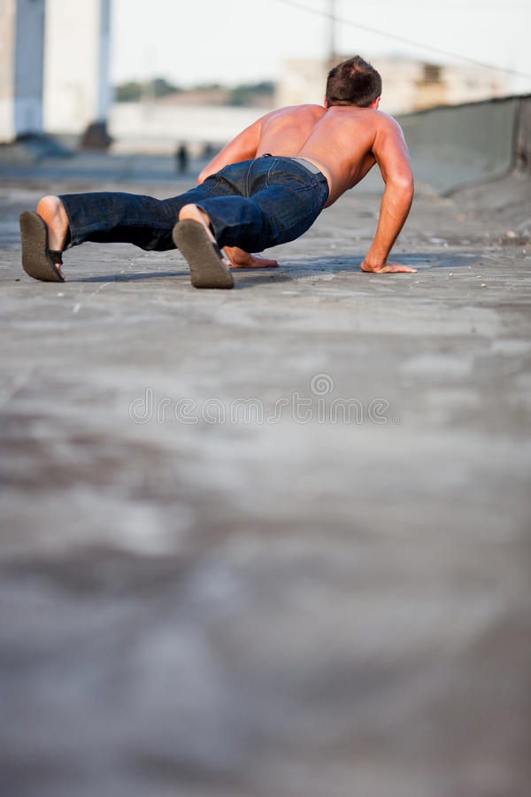 Download Roof Pushups Royalty Free Stock Images - Image: 10699839