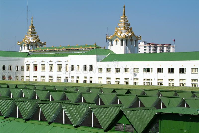 Download Roof Of Railway Station Building In Yangon Stock Image - Image of travel, bahnho: 46725447
