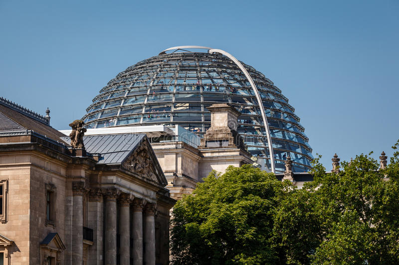 The Roof of Reichstag Building in Berlin royalty free stock images