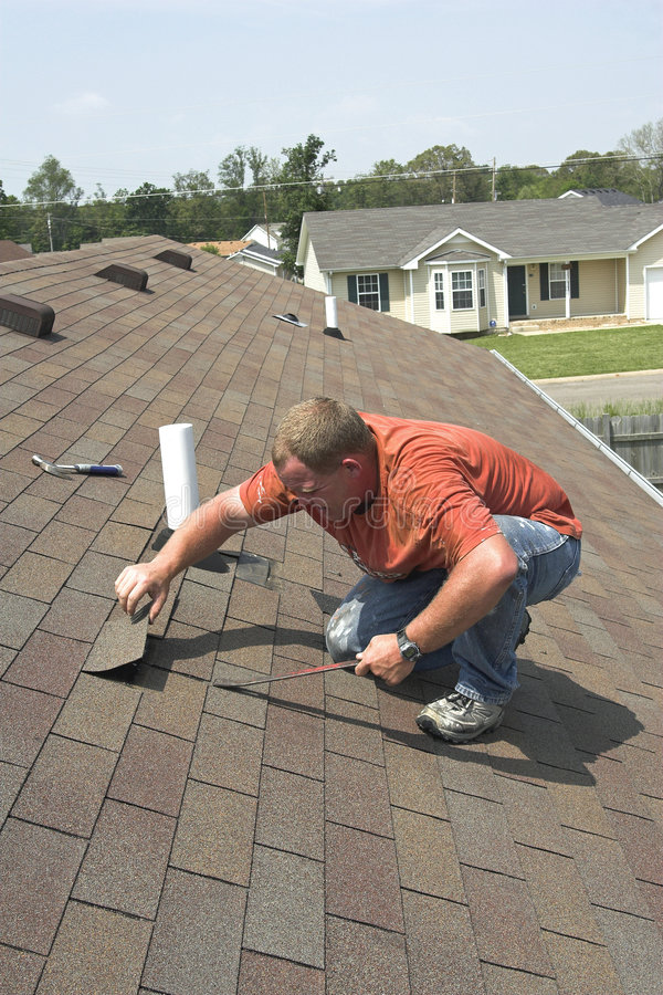 Download Roof repair stock image. Image of home, work, construction - 3097045