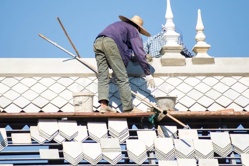 Roof Repair royalty free stock photo
