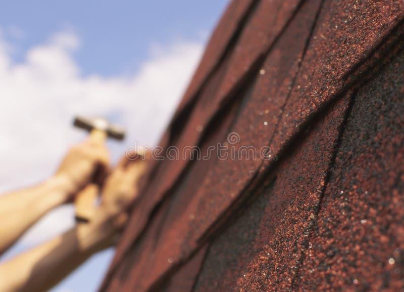 Roof repairs stock photos