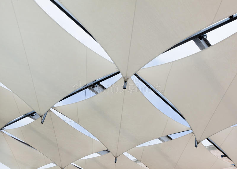 Download Roof Of Sails To Create Shade Stock Image - Image: 16433211