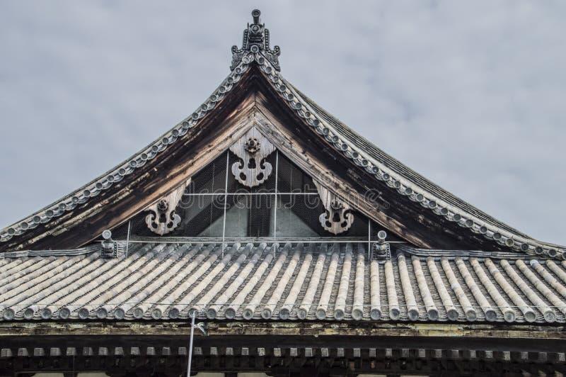 Roof Of The Sanjuusangendoo Temple At Kyoto. Japan 2015 stock photo
