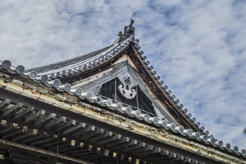Roof Of The Sanjuusangendoo Temple At Kyoto. Japan 2015 royalty free stock photos