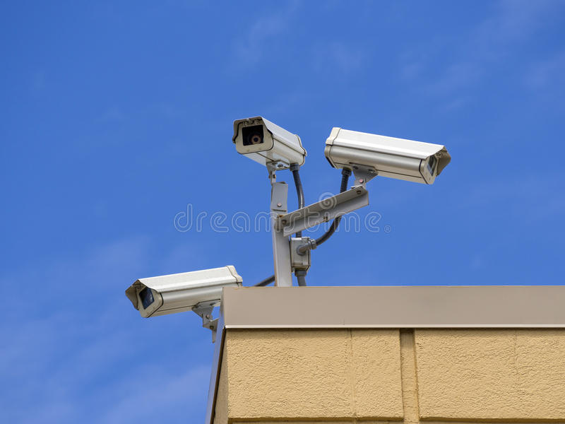 Download Roof  security cameras stock image. Image of cables, circuit - 30972151