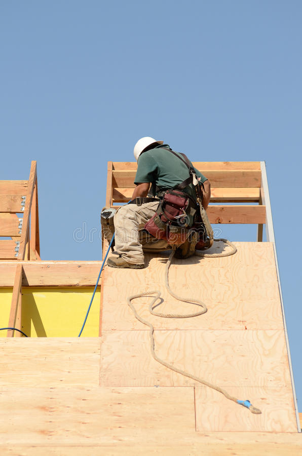 Download Roof Sheet editorial photography. Image of worker, wood - 43164492