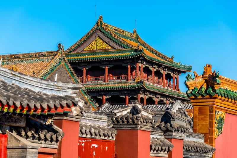 Roof of Shenyang Imperial Palace Building in CHINA.  stock image
