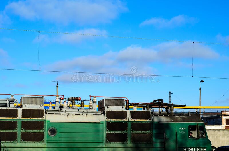 Roof of the electric locomotive royalty free stock photography