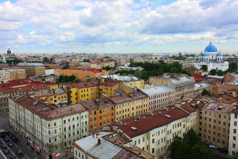 Download The Roof Of St. Petersburg Royalty Free Stock Images - Image: 25447269