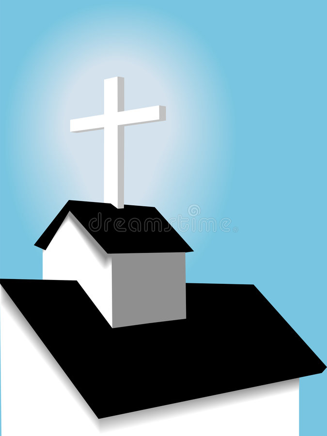 Download Roof Steeple Cross On A Small Country Church Stock Vector