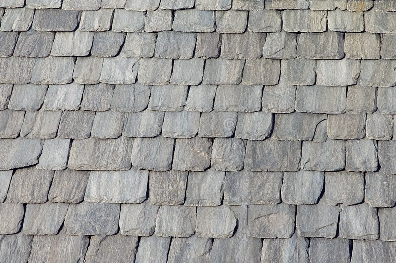 Roof stones. A view oh a roof stones made with italian tiles royalty free stock images