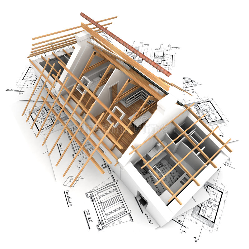 Roof structure royalty free illustration