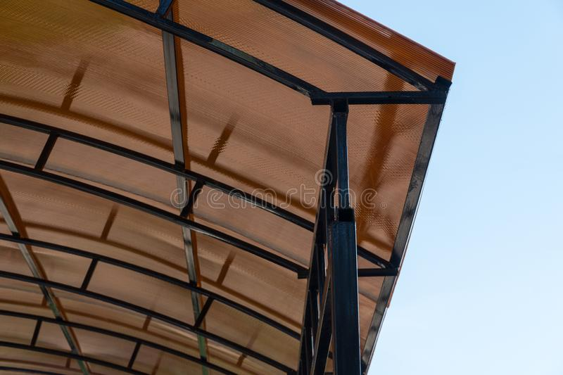 Roof structure, plastic royalty free stock image