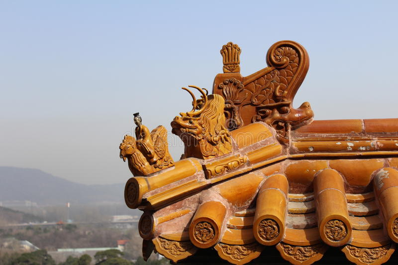 Roof of the Summer Palace stock image
