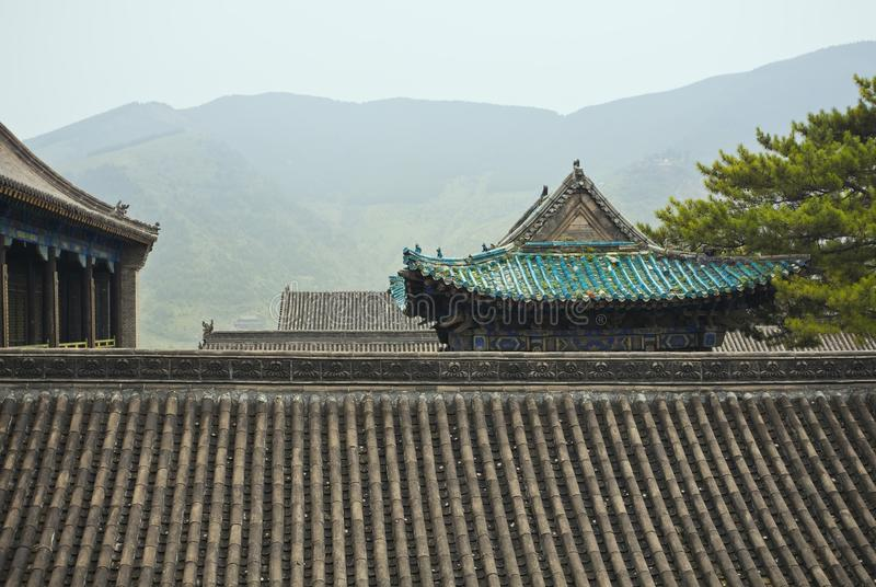 Roof of the temple royalty free stock images