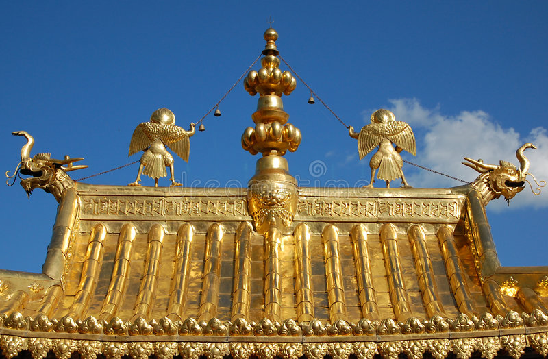 The roof of a temple stock photography