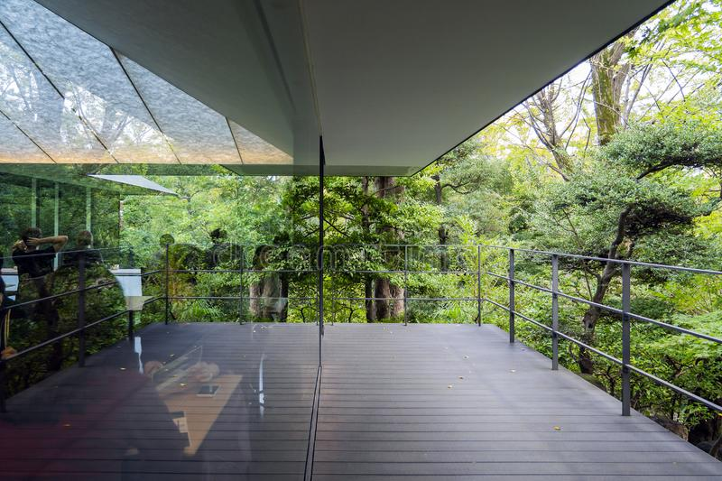 The Roof Terrace and Reflection of the Forest. The Roof Terrace and Reflection of the Green Park stock photography