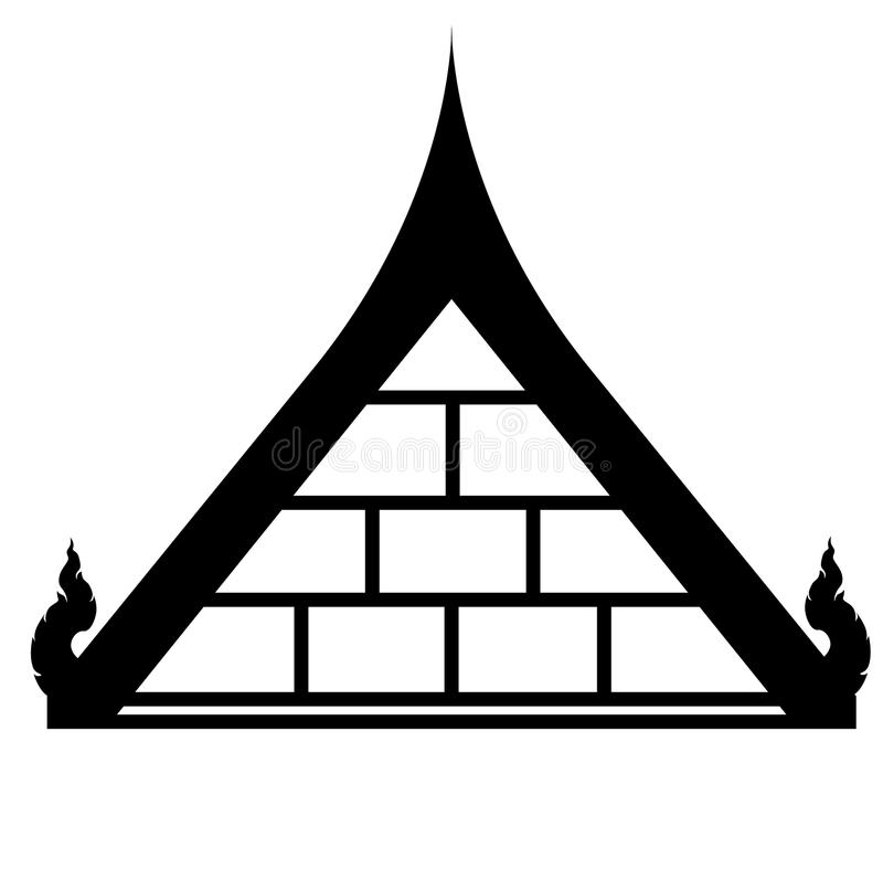 ROOF THAI stock vector. Illustration of black, home, house - 33125606