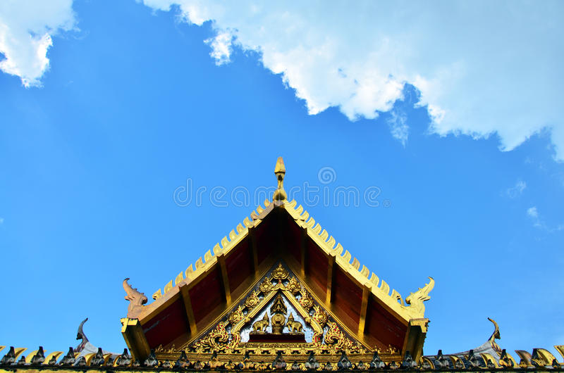 Roof Thai Style at public park in Nonthaburi Thailand royalty free stock images