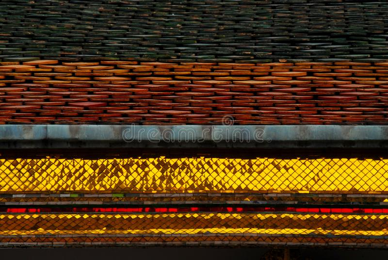Roof of Thai temple royalty free stock images