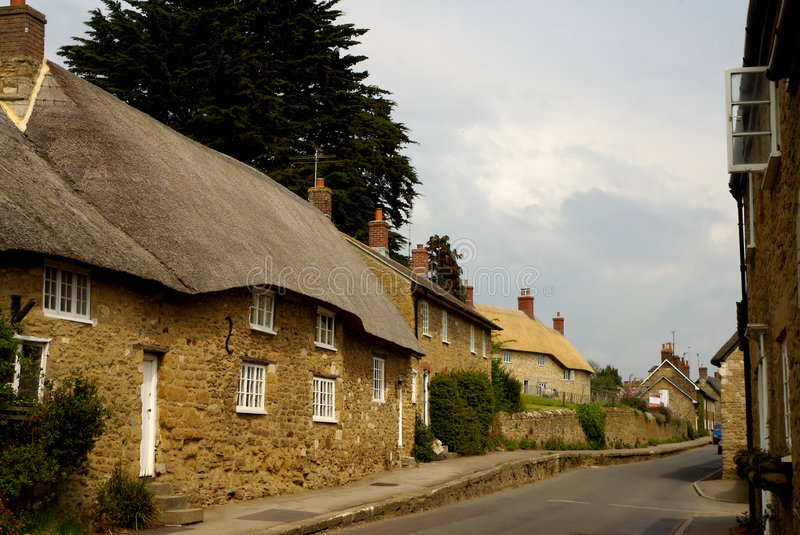 Roof thatached cottages royalty free stock photography