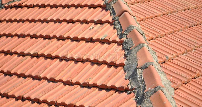 roof tile old royalty free stock photo