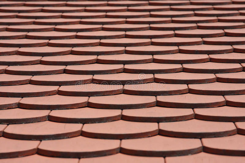 Roof tile pattern. Abstract red roof tile pattern royalty free stock photography