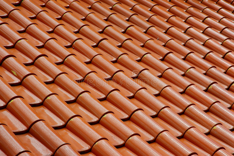 Roof tile pattern. Abstract roof tile pattern stock photos