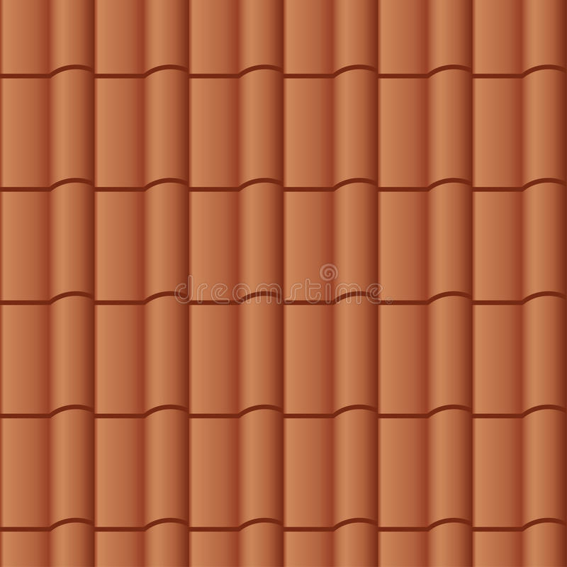 Roof Tile Seamless Background Stock Vector Illustration