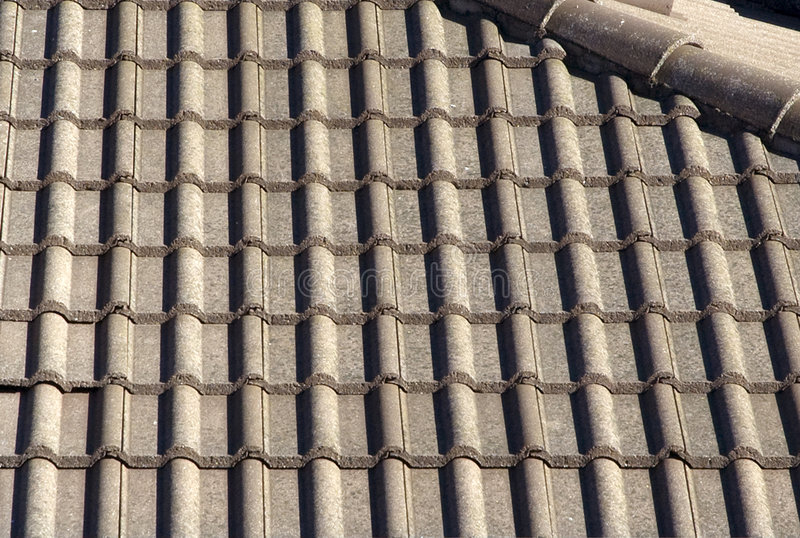Roof tiles. A view of a roof tiles royalty free stock photos