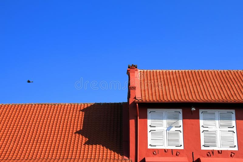 Roof tiles, architecture. stock photos