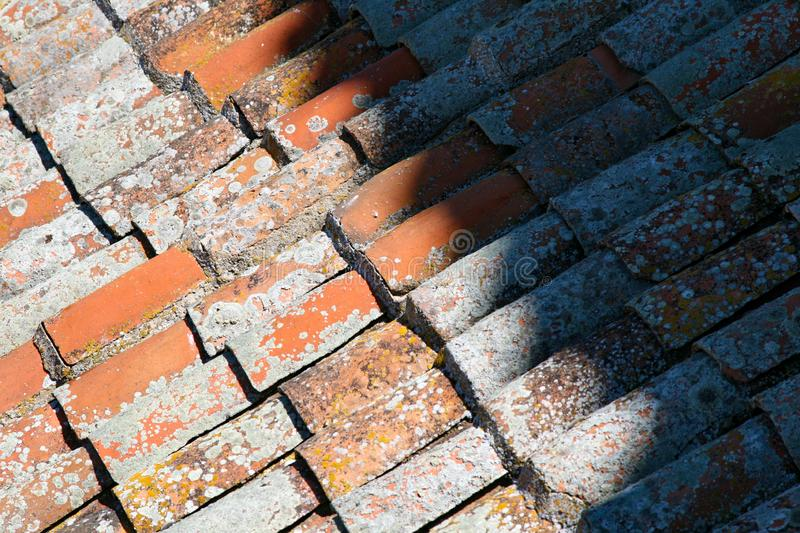 Roof tiles around Spain stock images