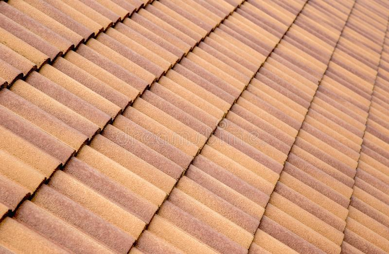 Roof tiles and sky sunlight. royalty free stock photos