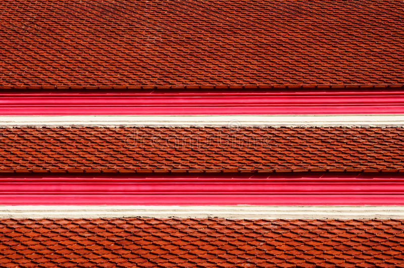 Roof tiles of Thai temple stock photography