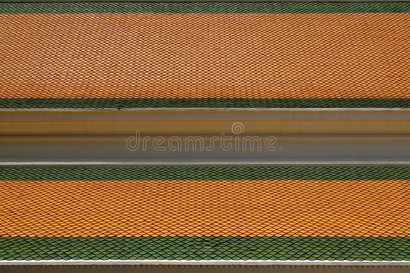 Roof tiles of Thai temple royalty free stock photo