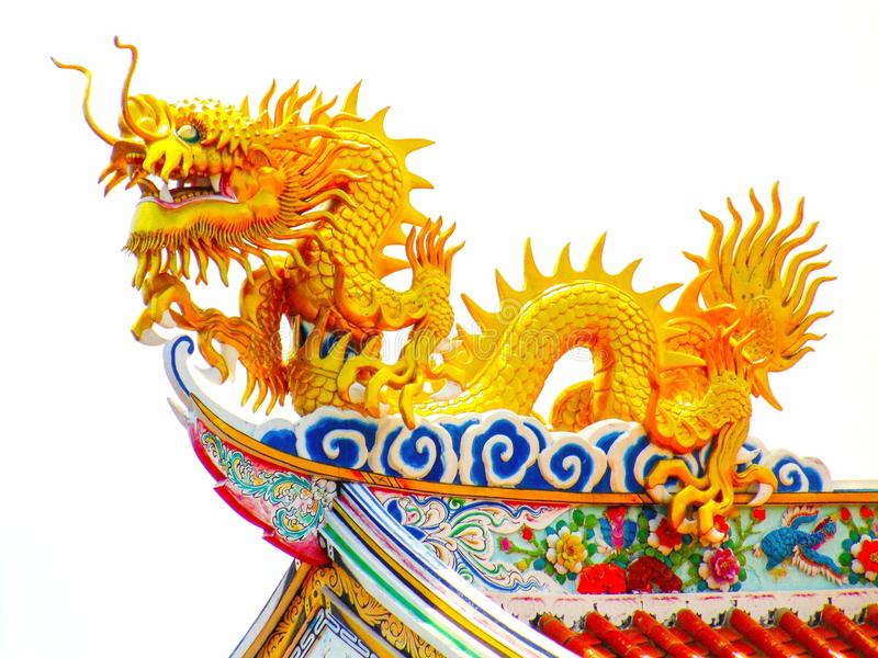 chinese art golden dragon royalty free stock photos