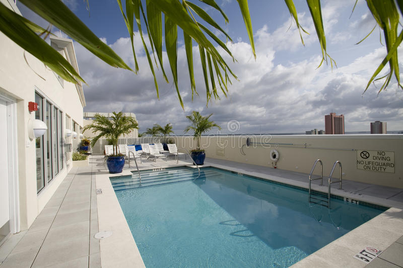 Roof Top Pool royalty free stock photography